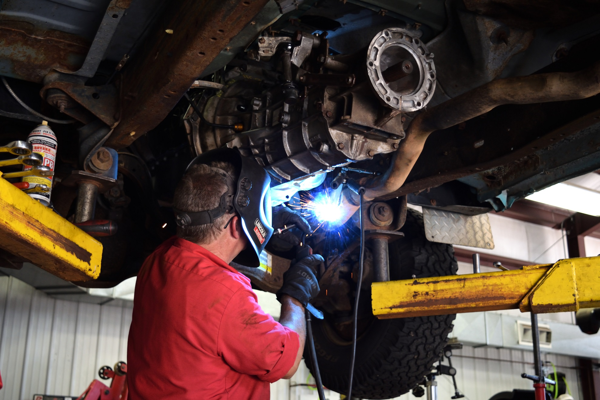 Automotive welding at Olin's Auto Service in Milton, WI